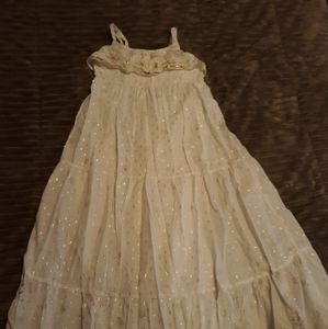 Girls white dress size 8